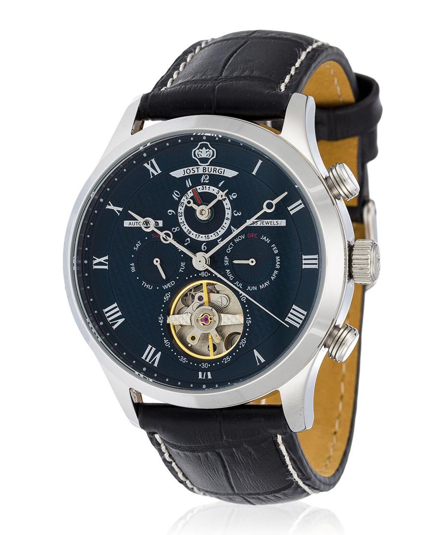 La Metropole silver-tone & black watch Sale - jost burgi