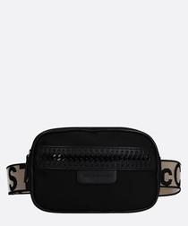 Black nylon belt bag
