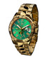 Le capitaine gold-tone & green steel watch Sale - andre belfort Sale