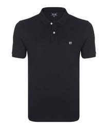 Black pure cotton polo shirt