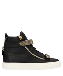 Maylondon black leather sneakers