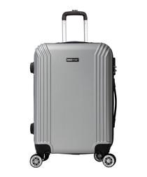 Original silver-tone suitcase 57cm