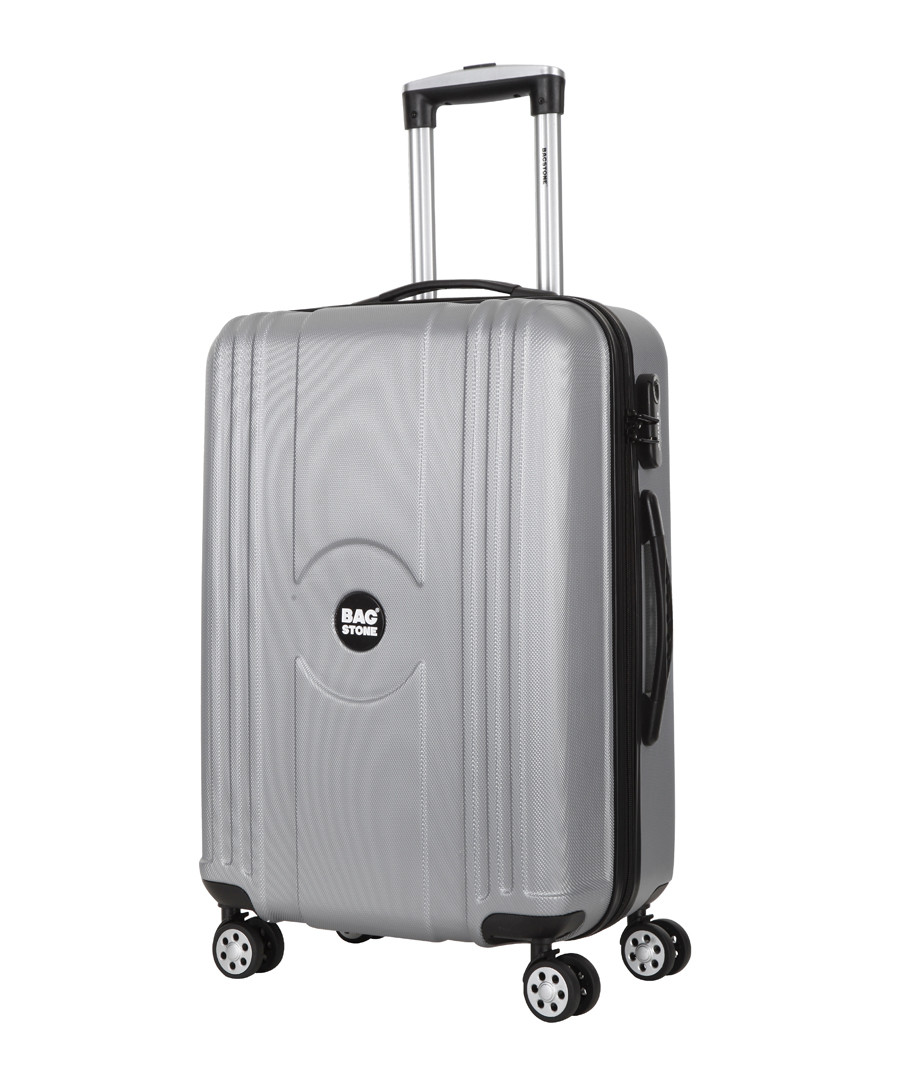 Jack silver-tone spinner suitcase 55cm Sale - bagstone
