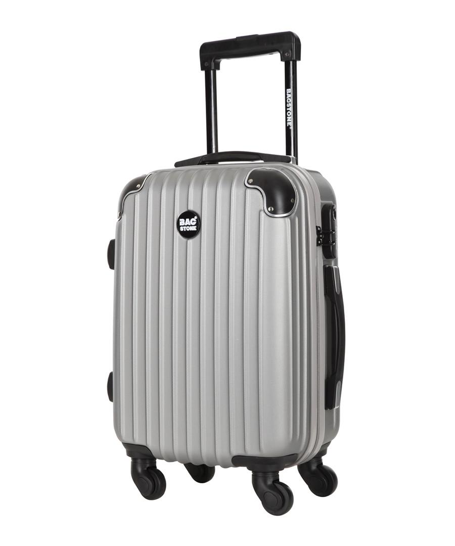 America silver-tone spinner suitcase 45cm Sale - bagstone