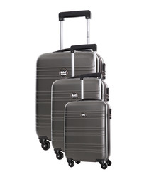 3pc Summer grey suitcase set