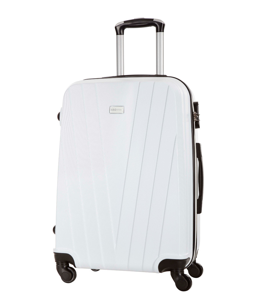 Mystic white spinner suitcase 70cm Sale - bagstone