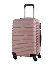 Twister gold-tone suitcase 60cm