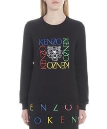 Black pure cotton tiger sweatshirt