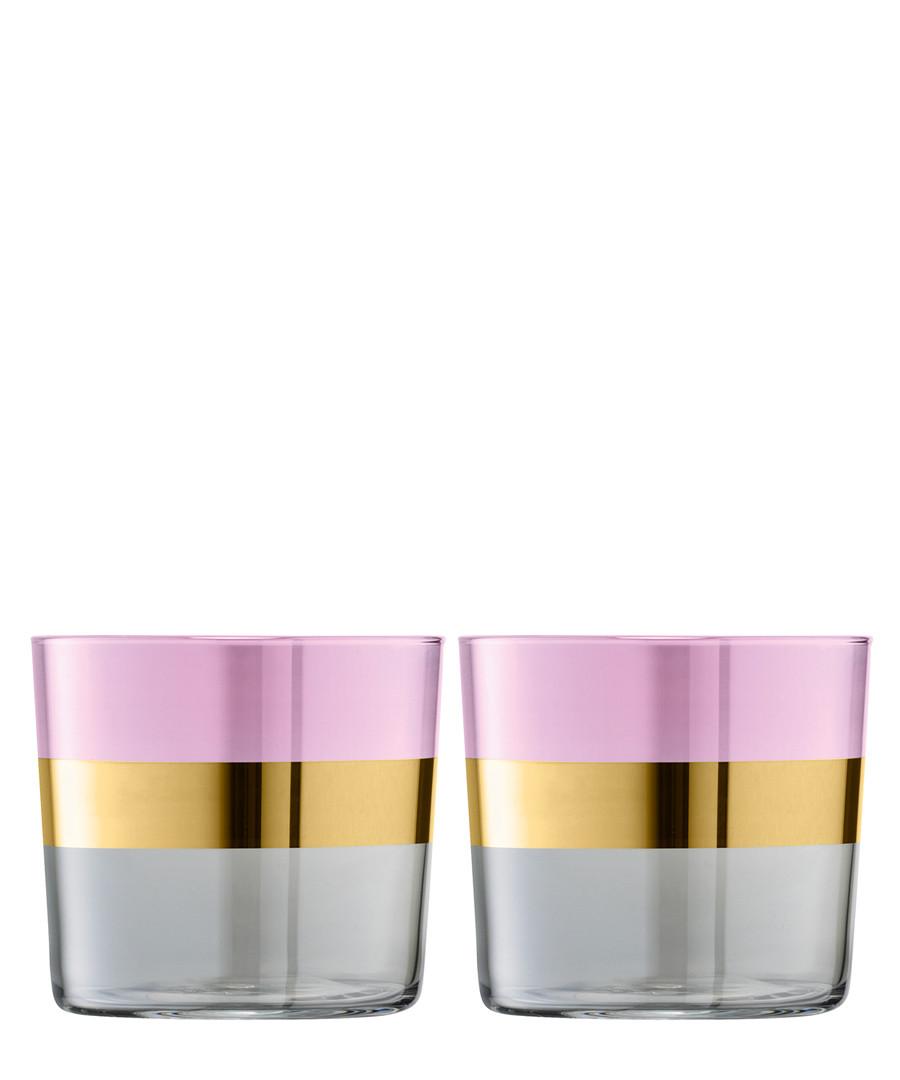 2pc Rose Bangle Tumbler glass set Sale - lsa international