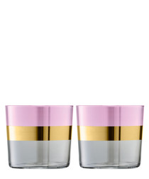 2pc Rose Bangle Tumbler glass set