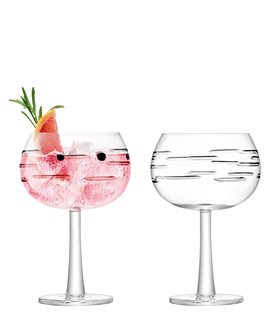 2pc Dash-cut gin balloon glass set Sale - lsa