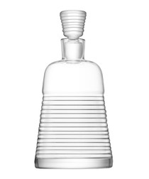 Groove glass decanter 1.7L