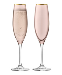 2pc Cinnamon sorbet champagne flute set