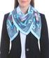 Acowboy blue print square scarf Sale - alber zoran Sale