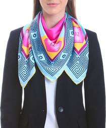 Acowboy fuchsia print square scarf