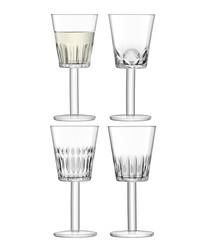 4pc Assorted-cuts wine glass set