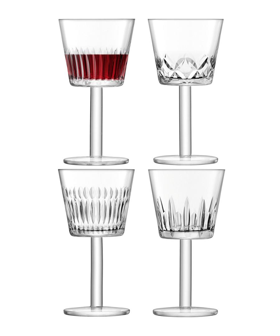 4pc Assorted-cuts wine goblet set Sale - lsa