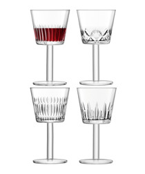 4pc Assorted-cuts wine goblet set