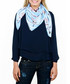 Charms blue print square scarf Sale - alber zoran Sale