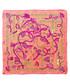 Diamond coral & yellow square scarf Sale - alber zoran Sale
