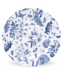 4pc Portmeirion botanic blue plates 10.75""