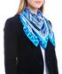 Aransas blue print square scarf Sale - alber zoran Sale