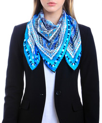 Aransas blue print square scarf