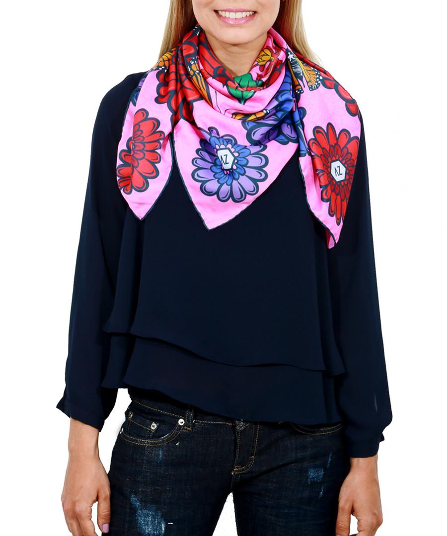 Hippyflowers pink print square scarf Sale - alber zoran