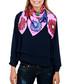 Hippyflowers pink print square scarf Sale - alber zoran Sale
