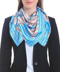Alamosa blue print square scarf