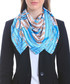 Alamosa blue print square scarf Sale - alber zoran Sale