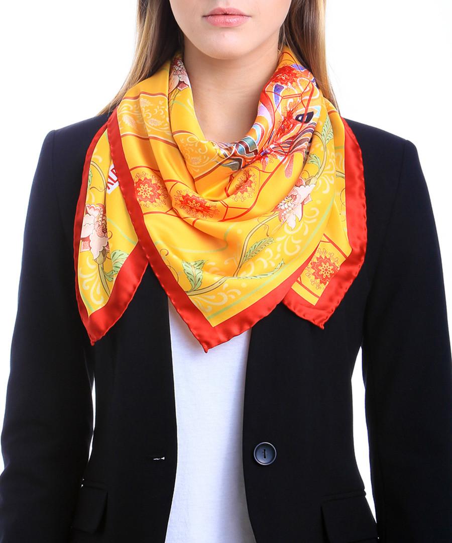 Anvik golden print square scarf Sale - alber zoran