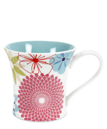 4pc Portmeirion crazy daisy mug set