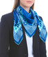 Andreafsky blue print square scarf Sale - alber zoran Sale