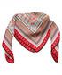Aransas red print square scarf Sale - alber zoran Sale
