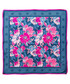 Flowers pink & blue print square scarf Sale - alber zoran Sale