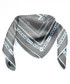 Iconic grey & blue print square scarf Sale - alber zoran Sale