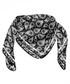 Cachemira black print square scarf Sale - alber zoran Sale