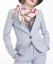 Super Baroque fuchsia triangle scarf