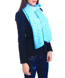 Bee blue scarf
