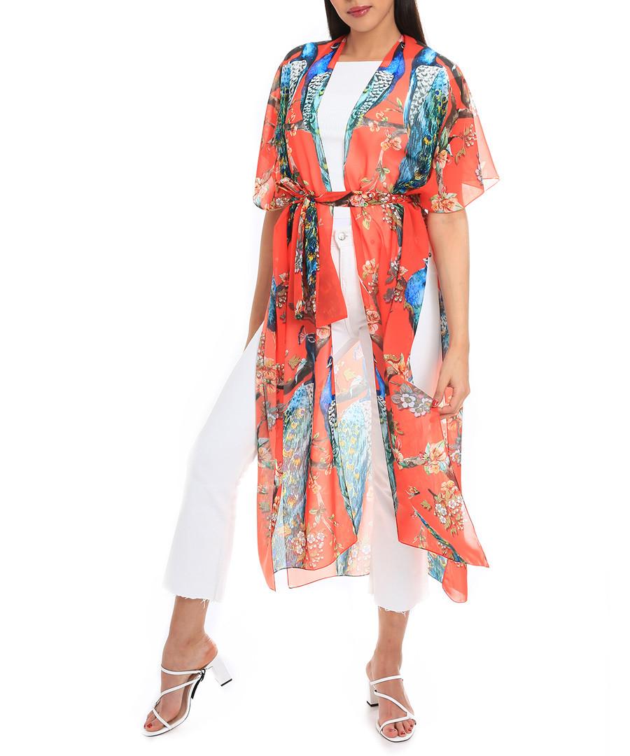 Sun peacock multi-colour kimono Sale - alber zoran