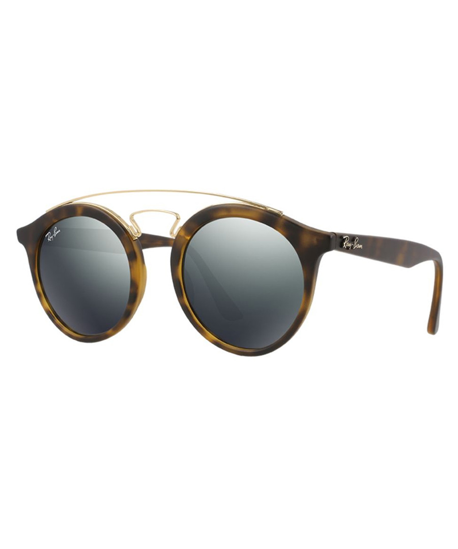 Havana & silver-tone mirror sunglasses Sale - ray-ban