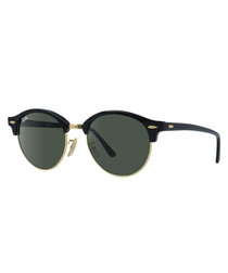 Black & green metal sunglasses