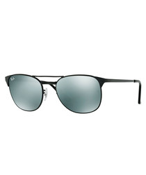 Black & green polarised sunglasses