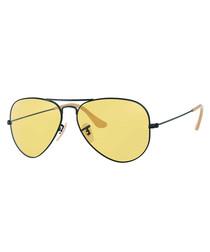 Yellow & black photochromic sunglasses