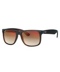 Brown gradient mirror sunglasses