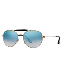 copper-tone blue gradient sunglasses
