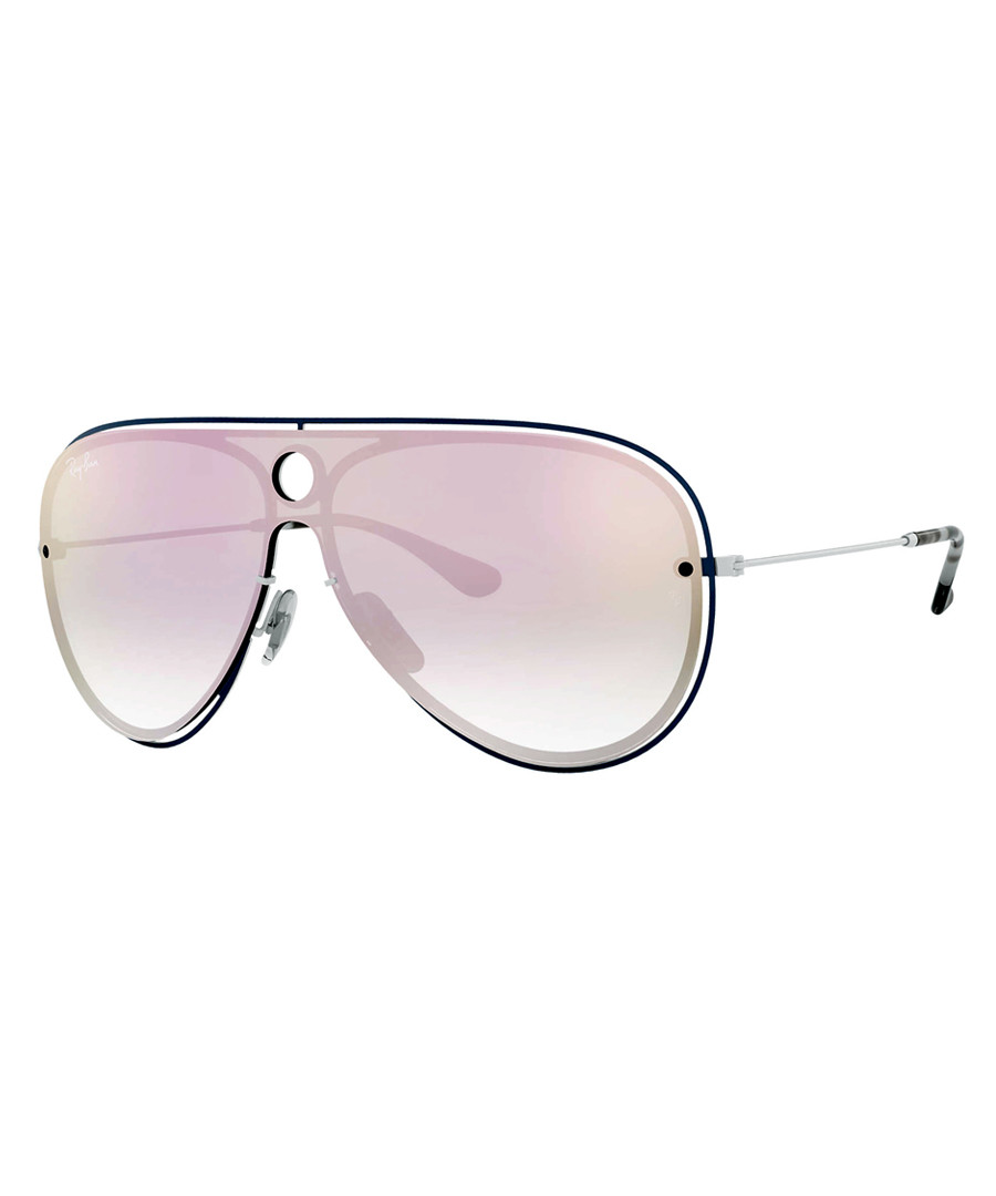 Blue white & pink mirror sunglasses Sale - ray-ban