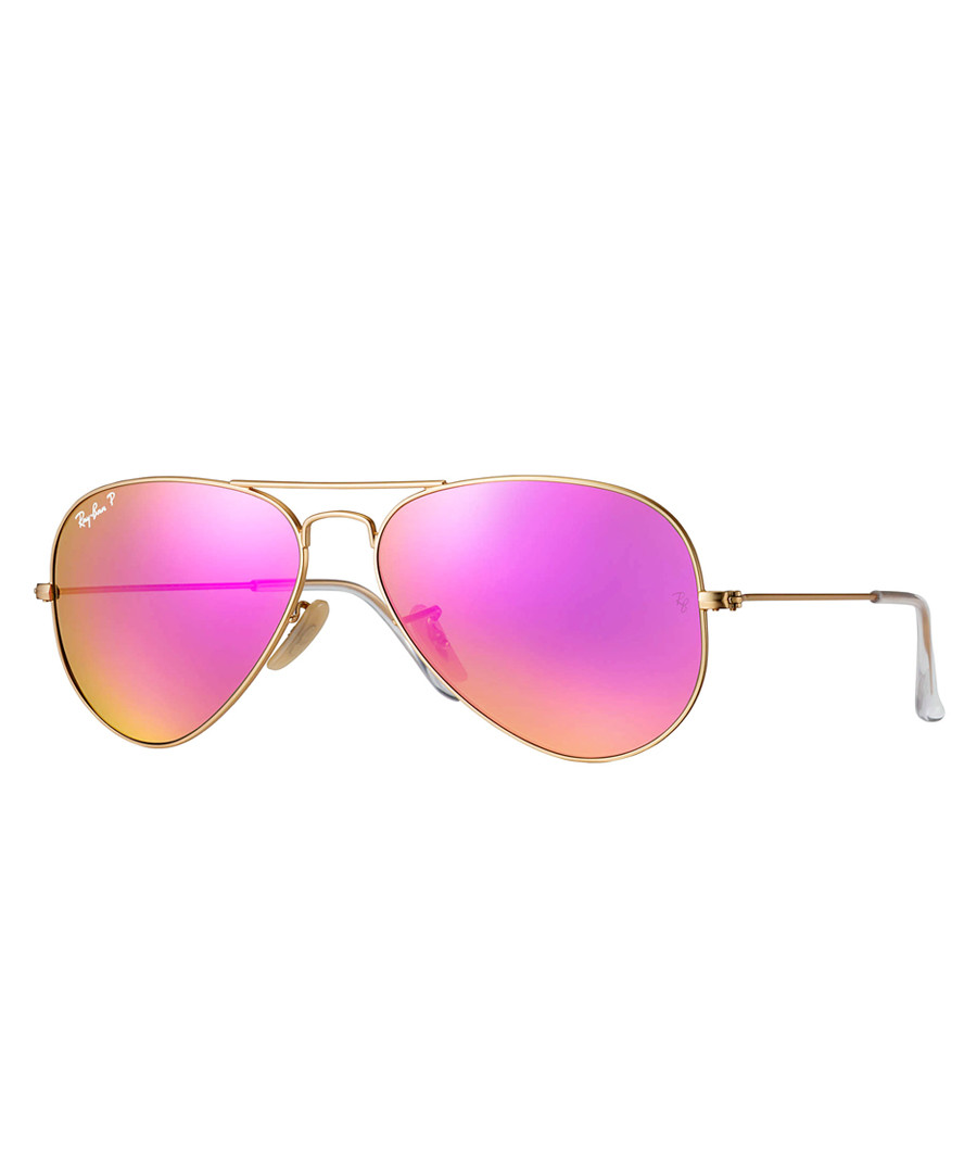 Gold-tone & cyclamen sunglasses Sale - ray-ban