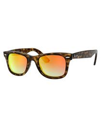 Tortoise & orange gradient sunglasses